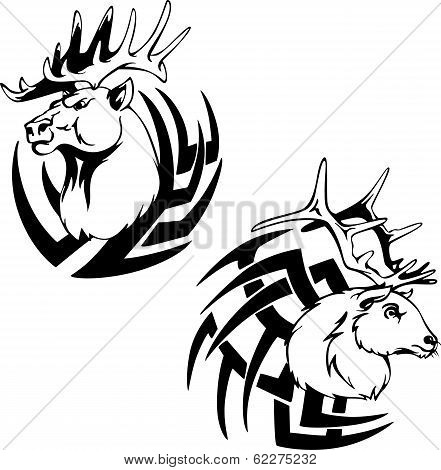Predator Deer Head Tattoos