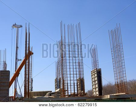 Concrete Monolithic Frame Of New Building