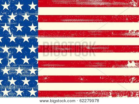 An horizontal american flag for a poster design
