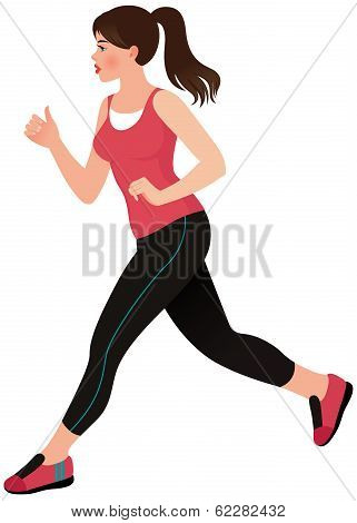 Running Girl Athlete