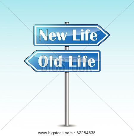 Vector New Life Directional Sign