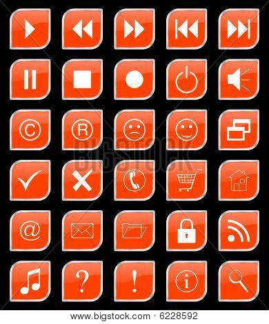 Buttons Set Orange