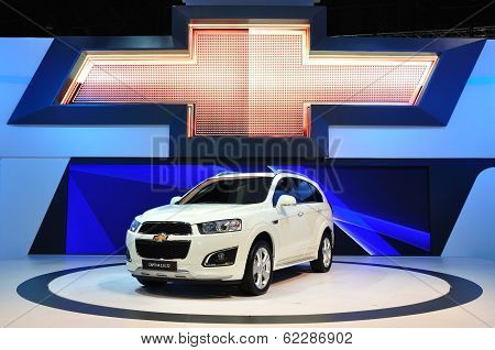 Nonthaburi - March 25: New Chevrolet Captive 2.0 Litre On Display At The 35Th Bangkok Thailand Inter
