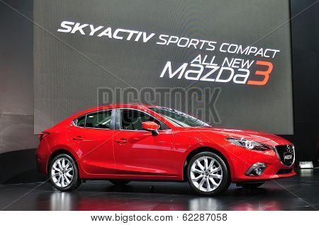 Nonthaburi - March 25: New Mazda 3 On Display At The 35Th Bangkok Thailand International Motor Show