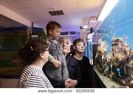 Family At Oceanarium