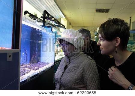 Two Women At Oceanarium