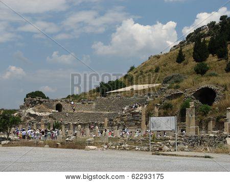 Odeum In Ancient City Ephesus