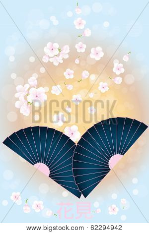 Japanese Background - Stock Illustration