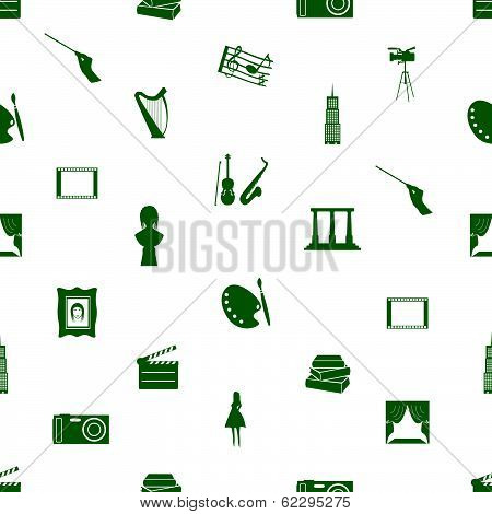 art icons pattern seamless eps10