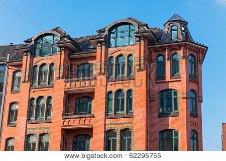 Characteristic building in Hamburg
