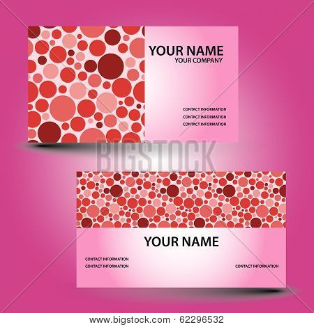 business card color circle eps10