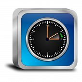stock photo of daylight saving time  - decorative blue daylight saving time button  - JPG