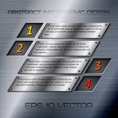 Abstract metal infographics options