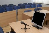 picture of jury  - interior view of court room office conference table - JPG