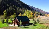 Beautiful landscape of Colorado in early autumn time