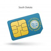 picture of south american flag  - State of South Dakota phone sim card with flag - JPG