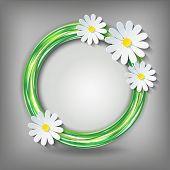 ������, ������: Eco Background With 3D Chamomile
