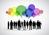stock photo of crowd  - Business Social Networking Vector - JPG