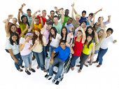 stock photo of disabled person  - Large Group of People Celebrating - JPG