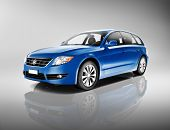 pic of generic  - 3D Generic Blue Family Car - JPG