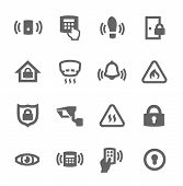 stock photo of smoke detector  - Simple set of perimeter security related vector icons for your design - JPG