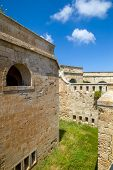 La Mola Fortress of Isabel II at Menorca island, Spain. It was built between 1850 and 1875 at the mo