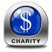 stock photo of generous  - charity icon fund raising raise money to help donate give a generous donation or help with the fundraise gifts - JPG