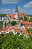 View Of Cesky Krumlov. (czech Republic).