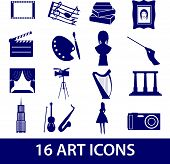 art icons set eps10