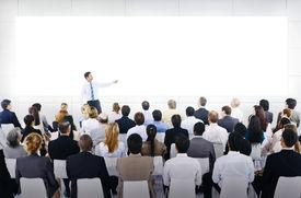 foto of seminar  - Large Business Seminar With White Board - JPG
