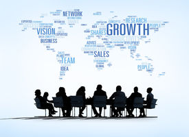 image of gathering  - World Business Meeting with Growth Concept - JPG