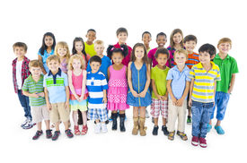 picture of pre-adolescents  - Large Group of Diverse World Children - JPG