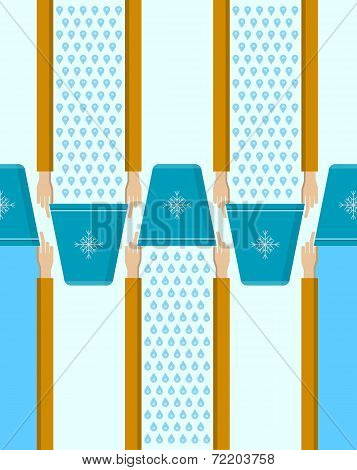 Vector background for Ice Bucket Challenge.
