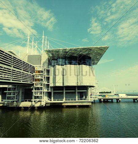 Famous Oceanarium In Lisbon(portugal)