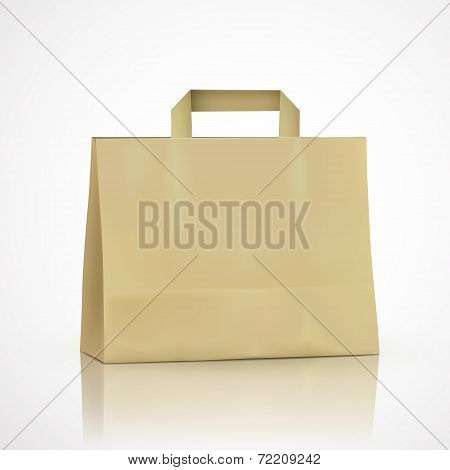 Blank Kraft Shopping Bag