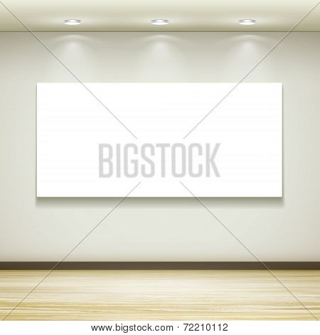 Blank Billboard Hanging On The Wall