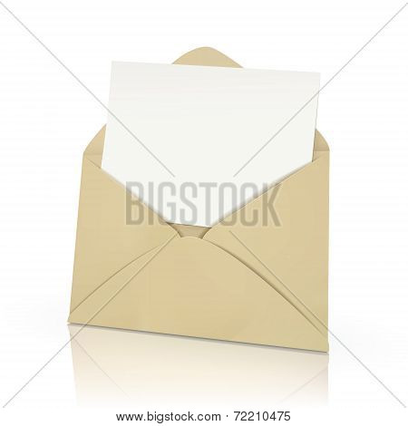 Open Envelope With Blank Card In It