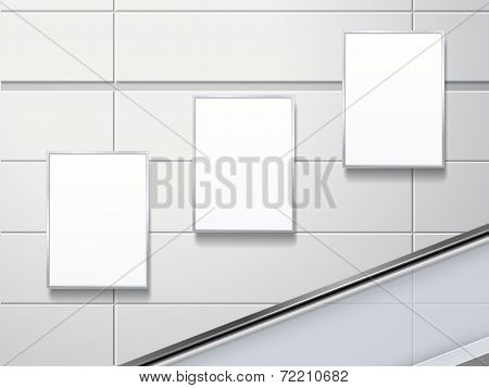 Blank Billboards On The Wall