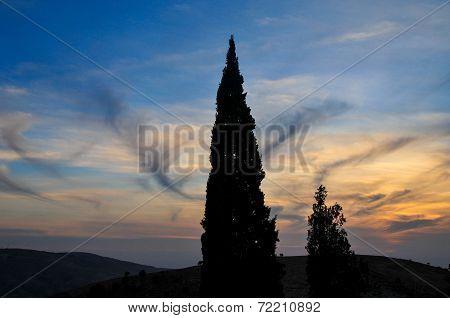 Sunset from Mount Nebo In Jordan