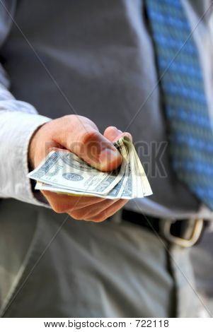 Hand Offer Money