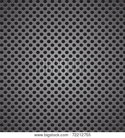 Circle Perforated Carbon Speaker Grill Texture Vector Illustration