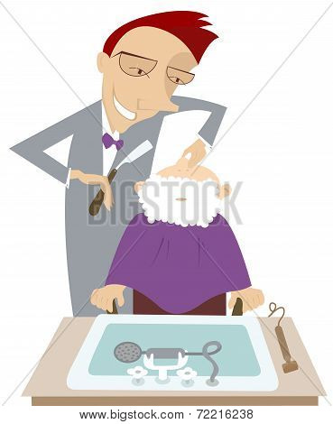 Cartoon barber illustration