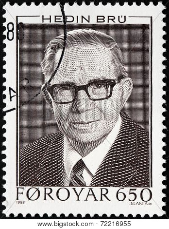 Hedin Bru Stamp