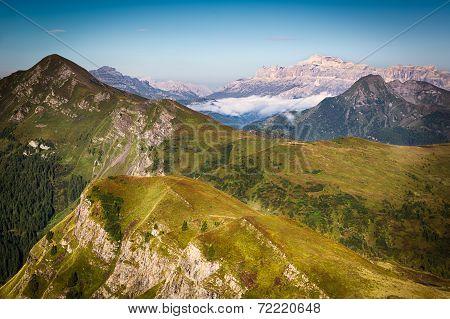 View from Passo Giau, Dolomites, Italian Alps