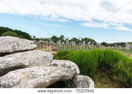Dolmen And Menhir In Carnac (france)