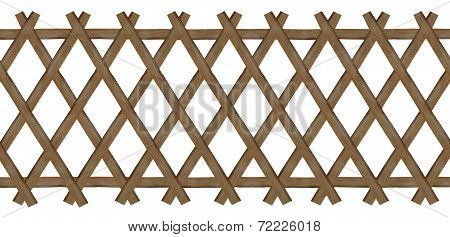 Wooden Brown Trellis-work Fence