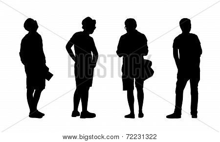People Standing Outdoor Silhouettes Set 19