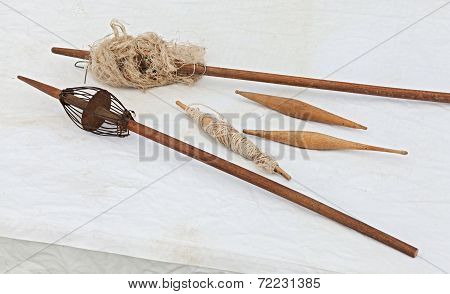 Old Tools For Manual Spinning