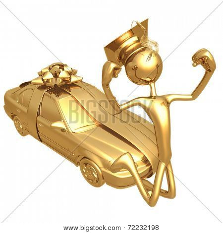 Golden Grad Sedan Graduation Gift