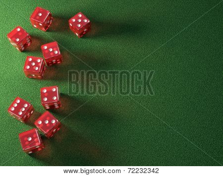 Red Dice Green Table